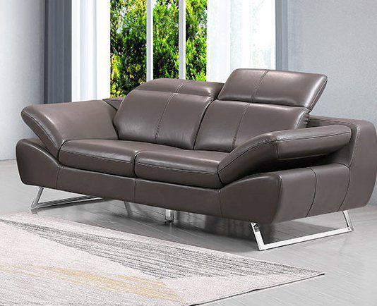 Premium Couch Safona, 2-Sitz Sofa, Farbe: Nougat