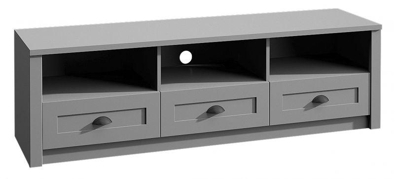 TV-Unterschrank Segnas 06, Farbe: Grau - 47 x 160 x 43 cm (H x B x T)