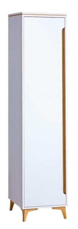 Schrank Amanto 2, Farbe: Weiß / Esche - Abmessungen: 200 x 47 x 52 cm (H x B x T)