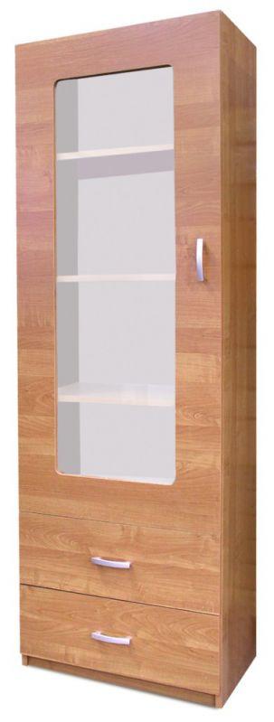 Vitrine Kisaran 20, Farbe: Erle - Abmessungen: 190 x 64 x 40 cm (H x B x T)