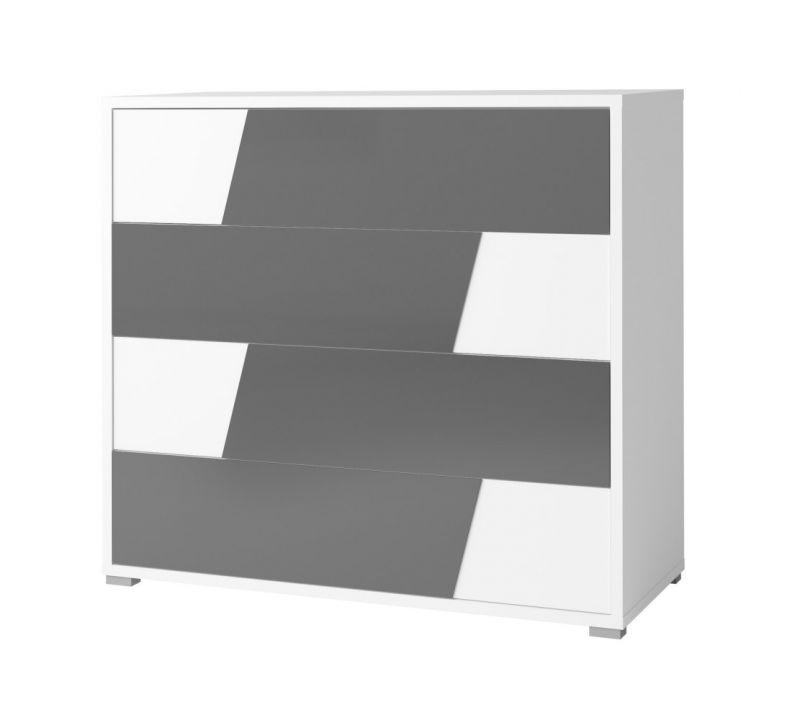 Kommode Deskati 02, Farbe: Weiß - Abmessungen: 100 x 110 x 46 cm (H x B x T)