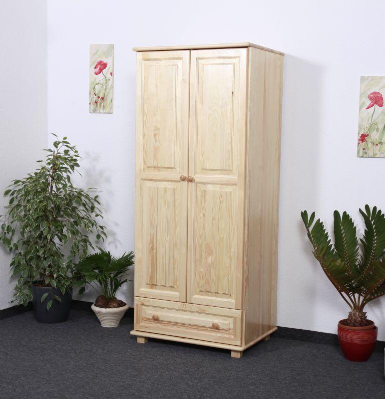 Kleiderschrank Kiefer Vollholz massiv natur 006- Abmessung  190 x 90 x 60 cm (H x B x T)