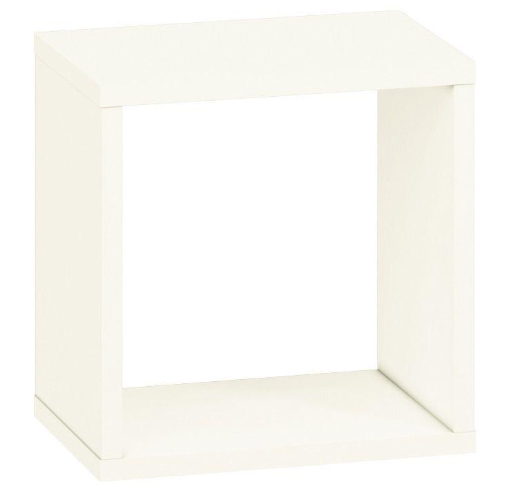 Jugendzimmer - Hängeregal / Wandregal Greeley 18, Farbe: Weiß - Abmessungen: 30 x 30 x 20 cm (H x B x T)