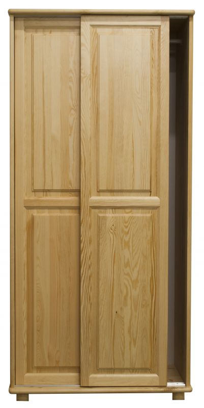Kleiderschrank Massivholz natur 014 - Abmessung 190 x 90 x 60 cm (H x B x T)