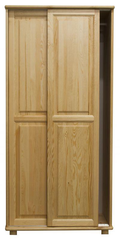 Kleiderschrank Massivholz natur 014 - Abmessung 190 x 80 x 60 cm (H x B x T)